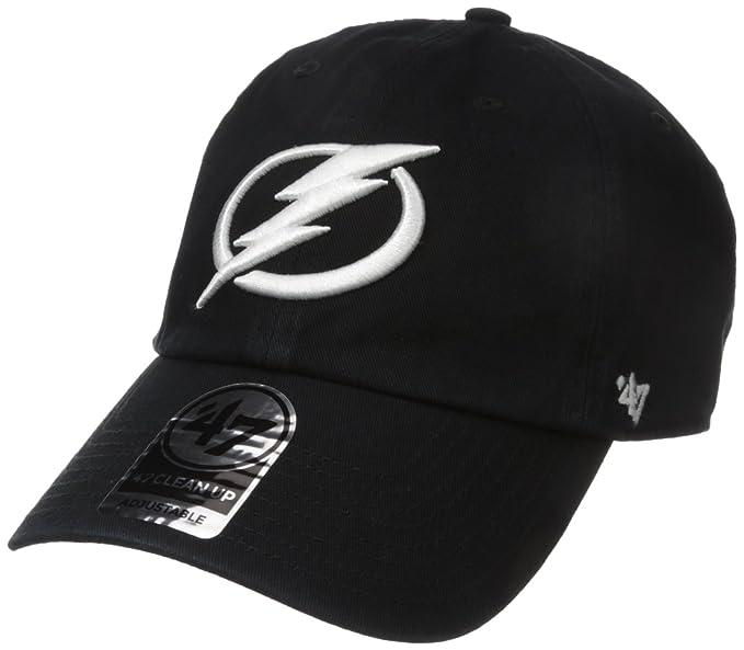 61b5d70d '47 NHL Tampa Bay Lightning Clean Up Adjustable Hat, One Size, Black