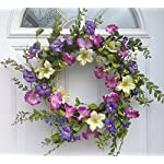 Cool-Summer-Morning-Silk-Floral-Wreath-Front-Door-Indoor-Seasonal-Decor-Spring-Summer-Fall-Valentines-Day-Easter-20-Inch-Diameter
