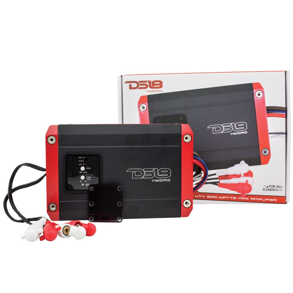 All Elements for All Applications DS18 Hydro NXL400.4D Next Level Full Range Digital Marine 4-Channel 1200 Watts Max Multichannel Amplifier