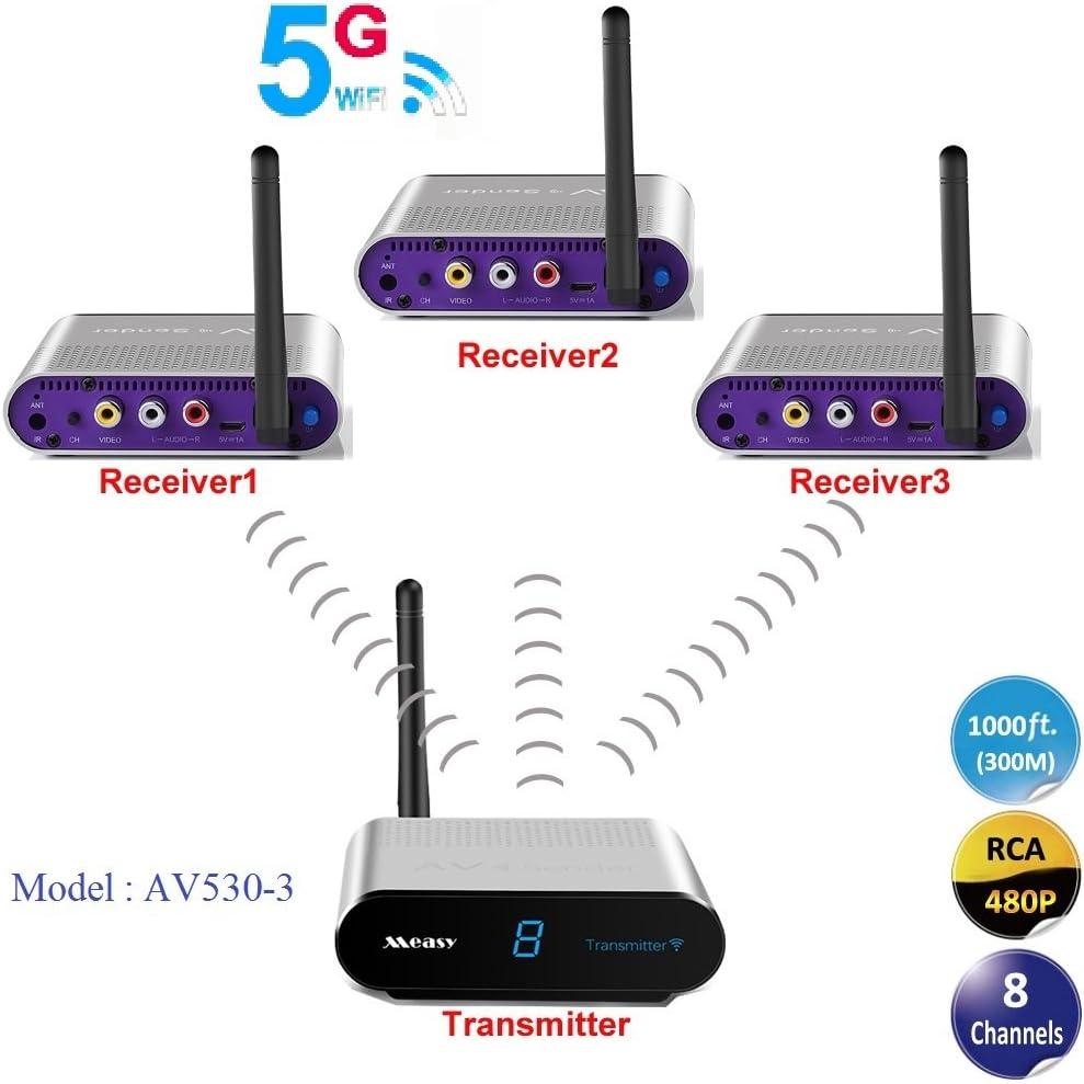 Measy Av530 3 1x3 Wireless Av Set 5 8g Funk Übertragung Transmitter 1x Sender 3x Empfänger