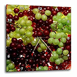3dRose dpp_1216_1 Grapes-Wall Clock, 10 by 10-Inch
