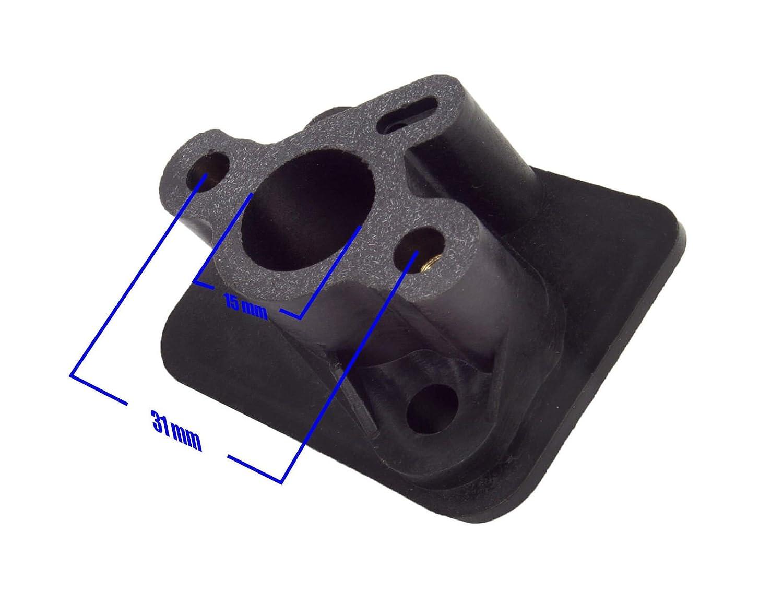 Inox-Trade Brida de Entrada Carburador Desbrozadora Typ BC52 Forester Fuxtec Brast Timbertech