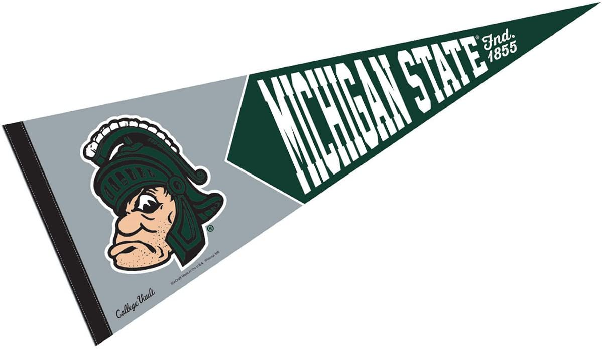 """Michigan State Spartans Ncaa Full Size 12 x 30/"""" New Pennant"""