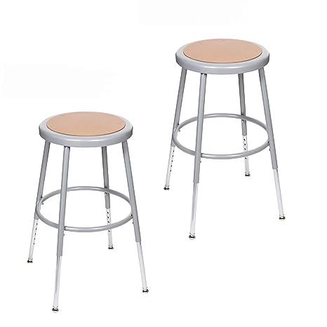 Stupendous 2 Pack Oef Furnishings Height Adjustable Grey Shop Stool 18 27 High Hbrsh18Gy2Pk Ibusinesslaw Wood Chair Design Ideas Ibusinesslaworg