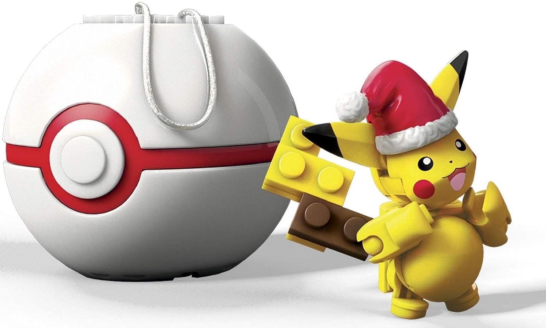 Mega Construx Pokemon Santa Pikachu Building Set Mattel FVK72
