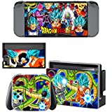 Cheap Vanknight Switch Console Joy-Con Dock Skin Set Vinyl Decals Stickers Cover Case