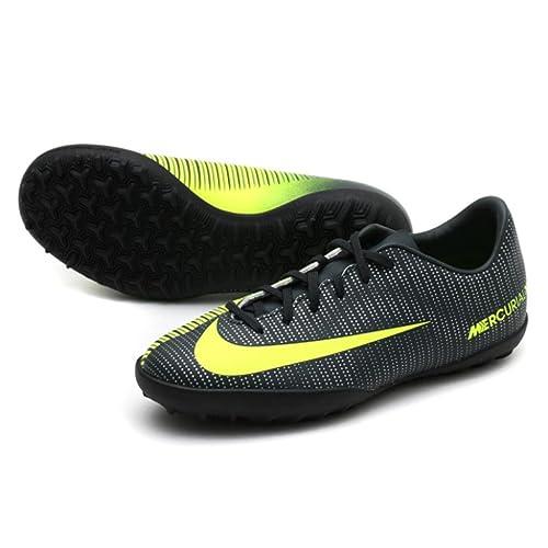Botas Nike Mercurial Vapor XI CR7 Negro Suela Turf Niño: Amazon.es: Zapatos y complementos