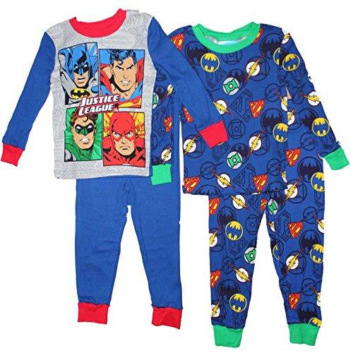 DC Comics Justice League Boys Cotton Pajamas 2-Pack 4-10 … (4)