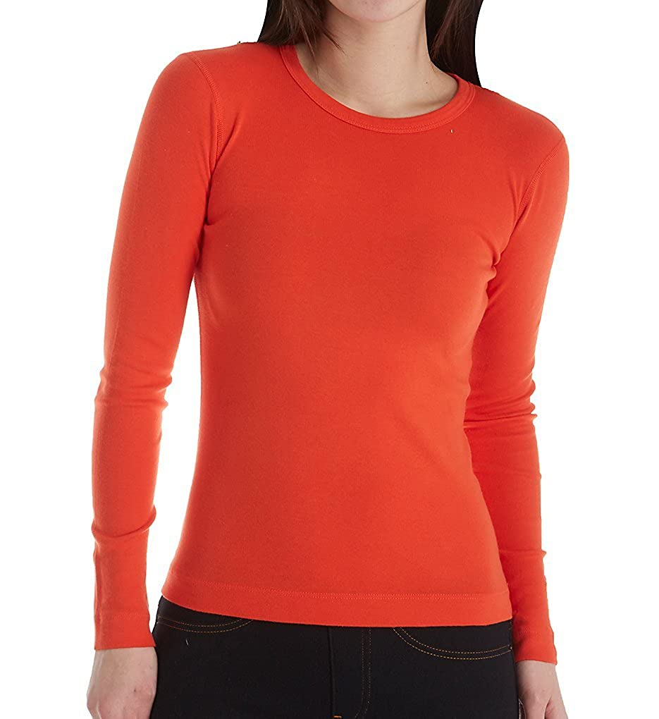 Three Dots Women's Long-Sleeve Crew-Neck T-Shirt ST2C-035