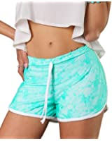 Tlv Styles Women's Bright Lace White Lined Booty Shorts