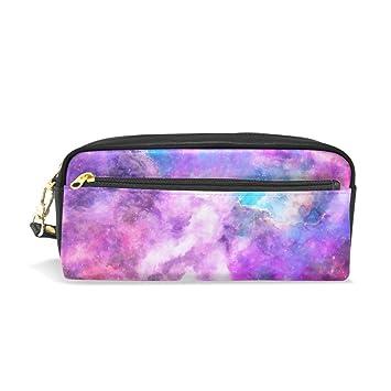 Amazon.com: My Daily Morado Galaxy Pencil Case Pen Bag Pouch ...
