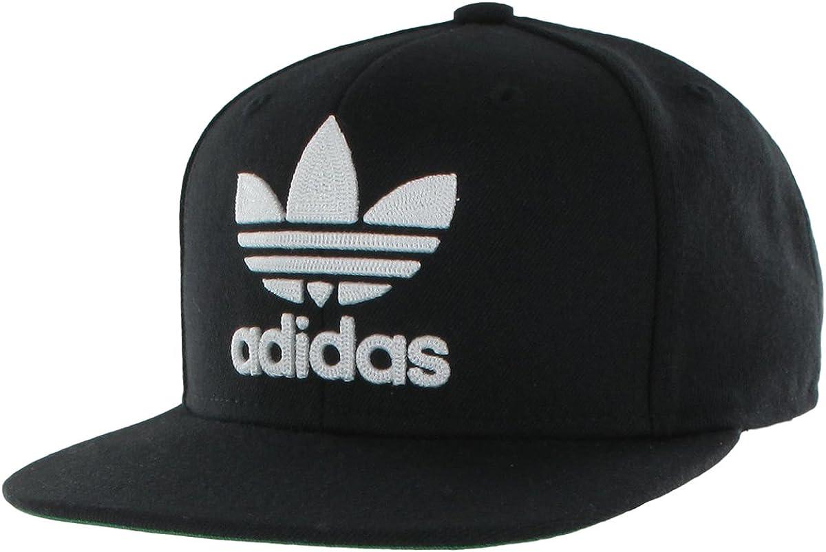 adidas Men's Originals Trefoil Chain Snapback, Black/White, One Size: Clothing