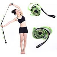 ValueHall 10 Fixed Loops Anti-Slip Durable Cotton Yoga Strap, Multi-Grip Stretching Strap for Flexibility and Physical Therapy Fitness Exercise V7013