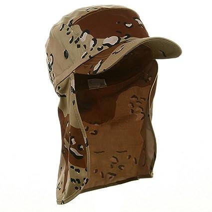 1afb8f55715 Amazon.com  Desert Camo Cap Sun Protection Foreign Legion Flap Hat ...