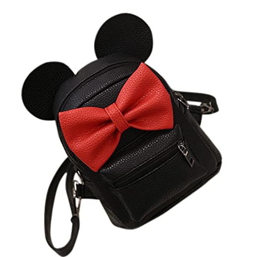 Stylish Mini PU Leather Backpack With Cute Mouse Ears and Bowknot Best Christmas/Birthday Gifts