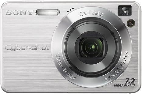 Cyber Shot Dsc W110 Silber Inkl Ladeger Lithiumakku Kamera
