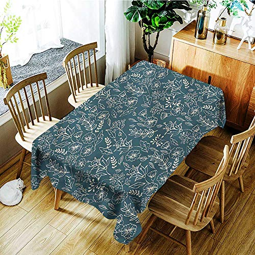 Angoueleven Floral,Table Cloth for Outdoor Picnic Vintage Style Spring Blooms 60