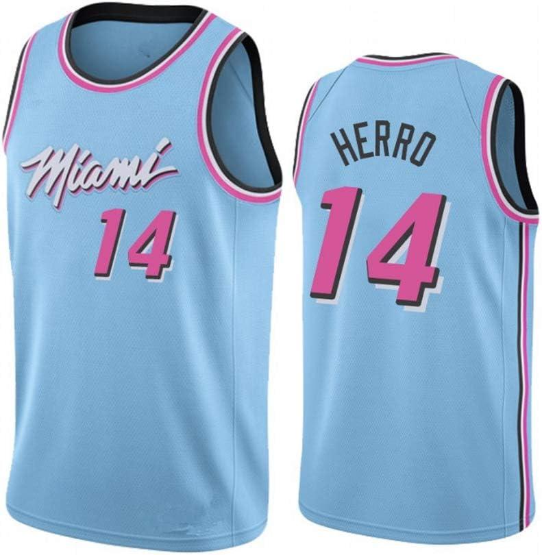 Z//A Miami Heat Encargo De Los Deportes Tyler Herro No.14 Baloncesto del Juego del Uniforme De Los Hombres del Jersey De Equipo De Entrenamiento Estudiante Uniforme,XS