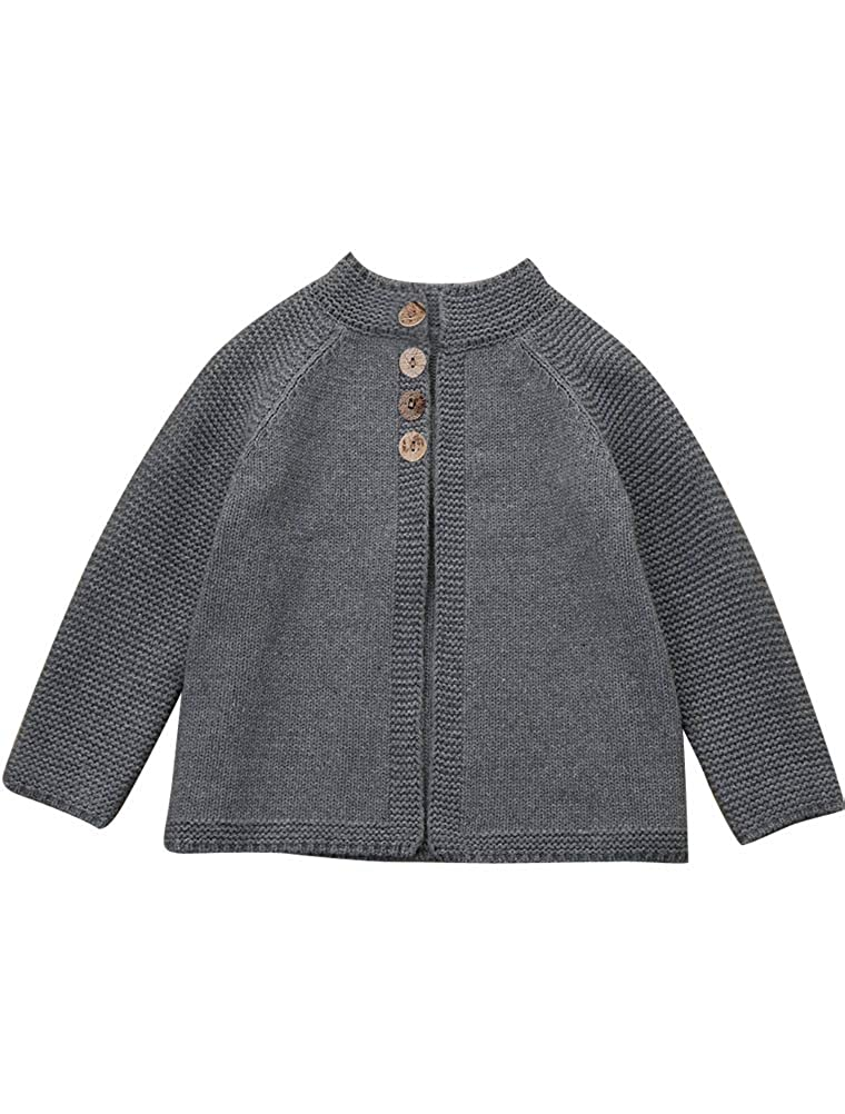 ARAUS Kids Girl Cardigan Sweater Knitted Coat Button Down Jacket Autumn Winter Clothes 1-11 Years