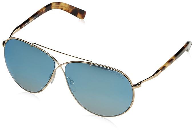 Amazon.com: Tom Ford EVA de la mujer Aviator anteojos de sol ...