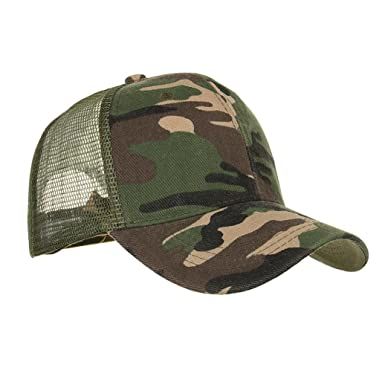 611eaae6e31 HARRYSTORE Men Women Camouflage Baseball Flat Cap - Unisex Boys Girls  Cotton Mesh Vintage