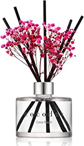 Cocod'or Preserved Real Flower Reed Diffuser/Coco Peach / 6.7oz(200ml) / 1 Pack/Reed Diffuser Set, Oil Diffuser & Reed Diffuser Sticks, Home Decor & Office Decor, Fragrance and Gifts