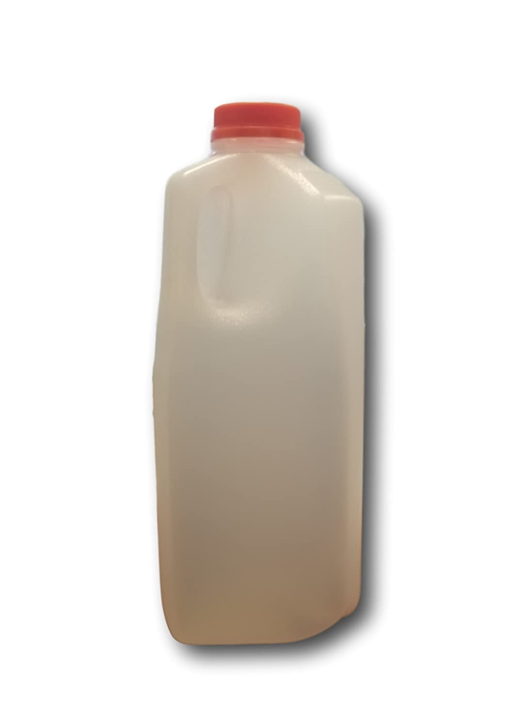 64 Oz. Empty HDPE Plastic Juice / Milk Bottles with Tamper Evident Caps by AM Bottle Supply- Set of 6 Bottles and 6 Caps
