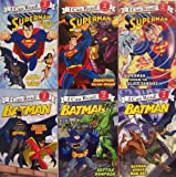 I Can Read Superman and Batman, Level 2 - 6 Book Set (Superman Escape from the Phantom Zone, Superman Versus Mongui, SupermanVersus the Silver Banshee, Batman Versus Man Bat, Batman Reptile Rampage, Batman Dawn of the Dyanmic Duo)