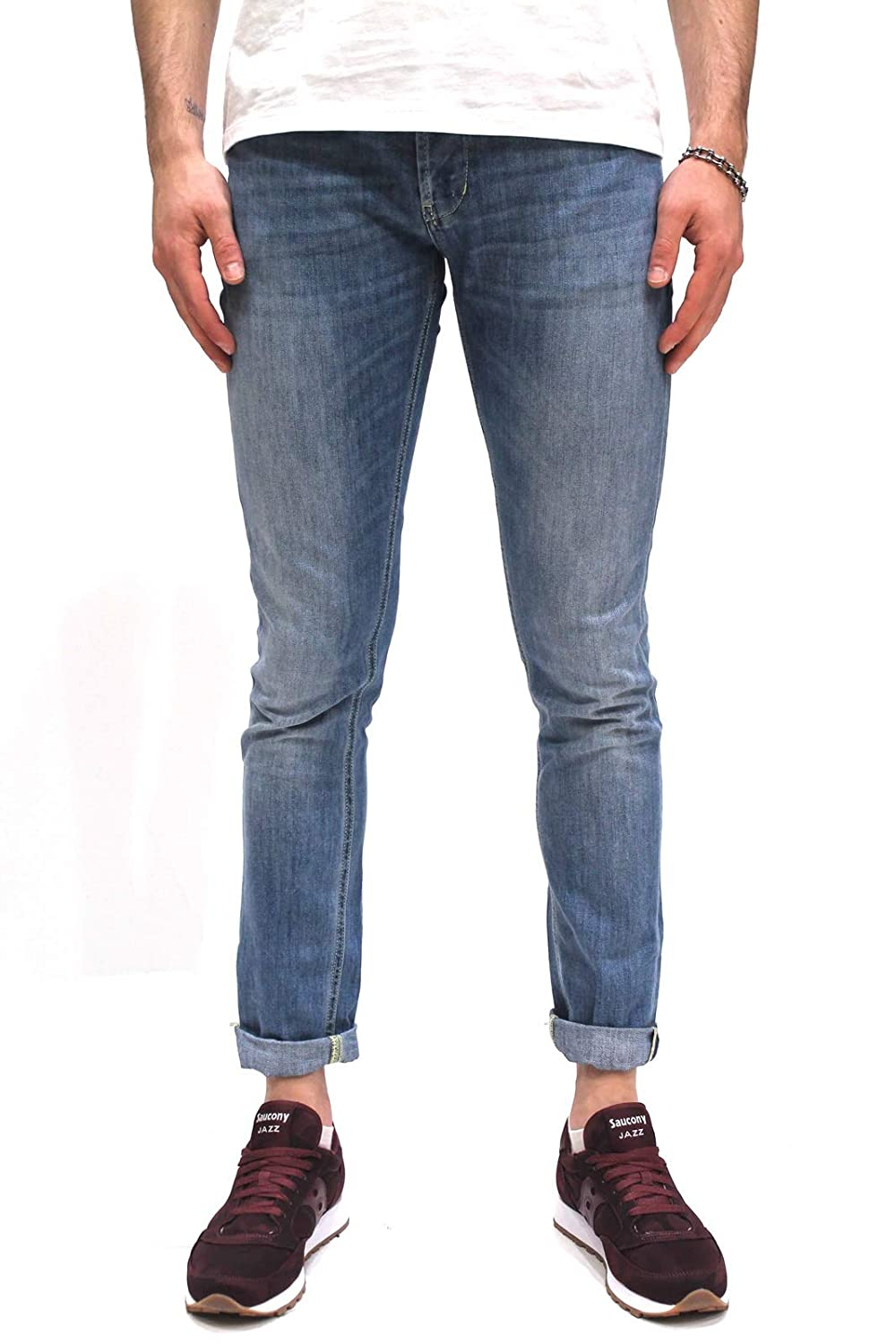 DONDUP Jeans Uomo UP232-DS0107 Denim Chiaro