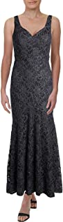 product image for Betsy & Adam Womens Petites Lace Sleeveless Evening Dress
