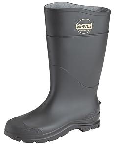 Servus Men's Comfort Technology 14'' PVC Steel Toe Work Boots, Black, 10 M