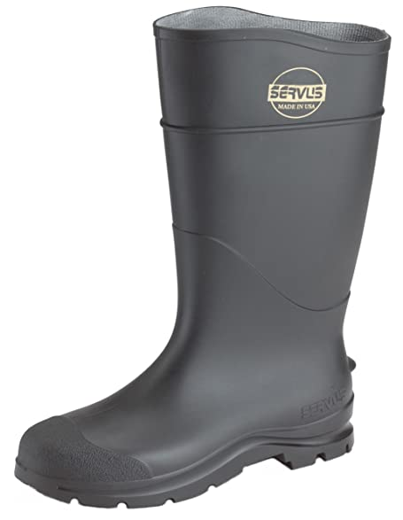 """Knee Boots Size 14 16"""" H Black Plain PR"""