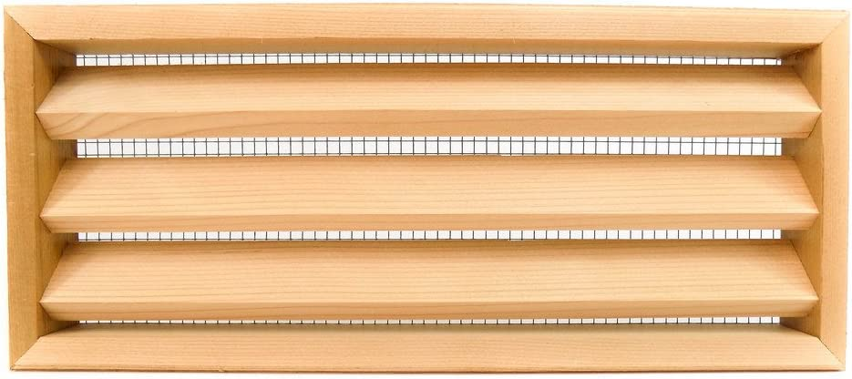 Miller Shingle Clear Cedar Foundation Vent With Louvers 16 Inch X 7 Inch 8 Pack Amazon Com