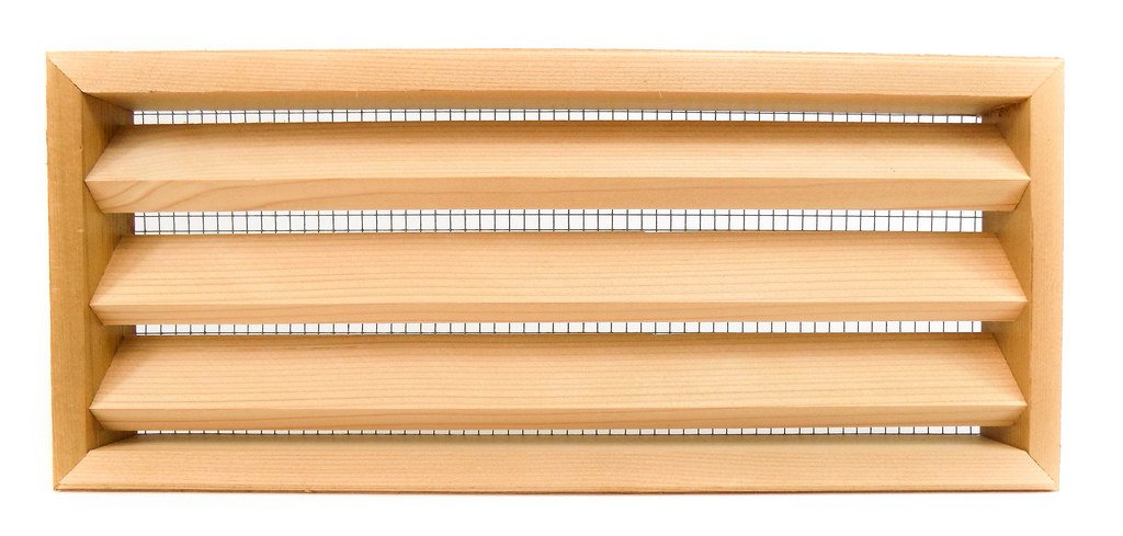 Miller Shingle Clear Cedar Foundation Vent With Louvers - 16 inch x 7 inch - 8 pack