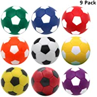 OuMuaMua Foosball Table Balls 1.42 inch Table Soccer Balls for Foosball Tabletop Game Foosball Accessory Replacements Multicolor (9 Pack)