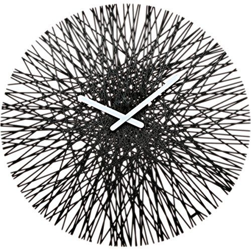 koziol SILK Wall Clock black