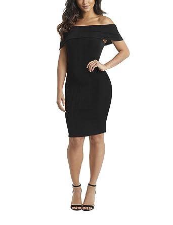 LIPSY Womens Bardot Bodycon Dress Black US 6 (UK 10)