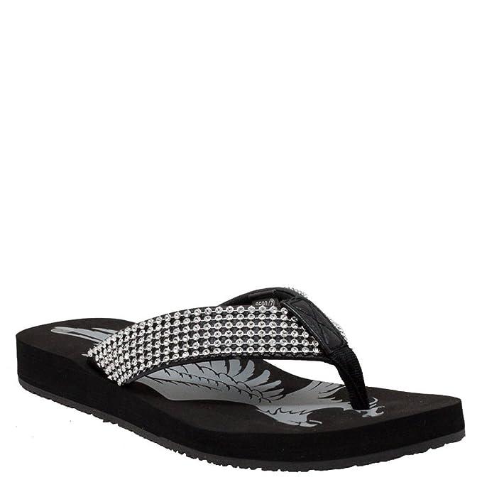 aa70d35d716 Amazon.com  RideTecs Jeweled Low Thong Women s Sandal  Clothing
