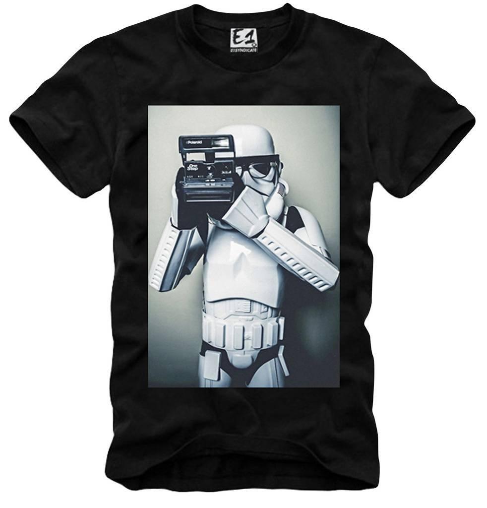 T Shirt Trooper Old School Hipster Selfie Polaroid Blogger S 7530