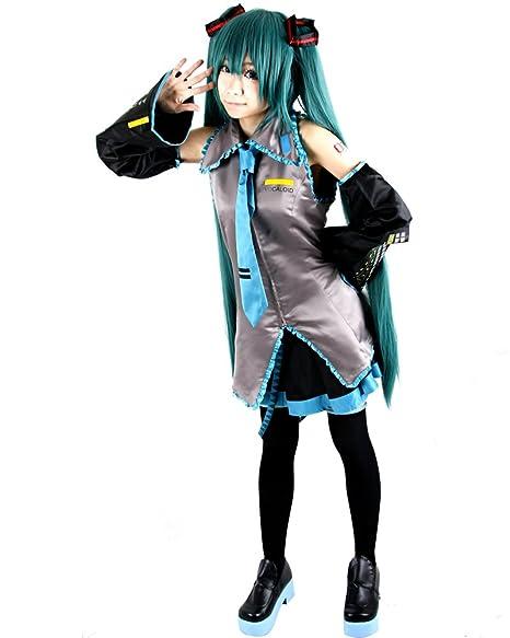 Amazon.com: miccostumes Mujer Vocaloid Hatsune Miku Cosplay ...