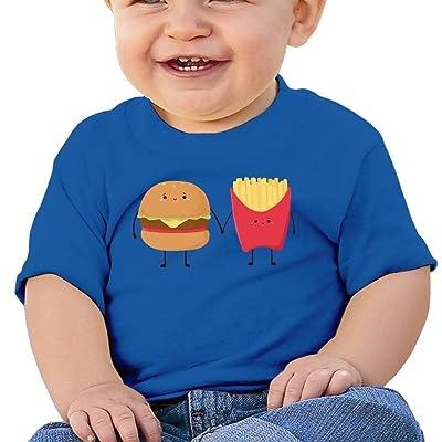 ANYE&&HF Burger and Fries Baby Boys Short-Sleeve