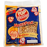 4oz NAKS PAK Popcorn Portion Pack with Coconut Oil - 36/Case