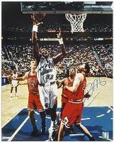 "Karl Malone Utah Jazz Autographed 16"" x 20"" Layup Photograph - Fanatics Authentic Certified - Autographed NBA Photos"