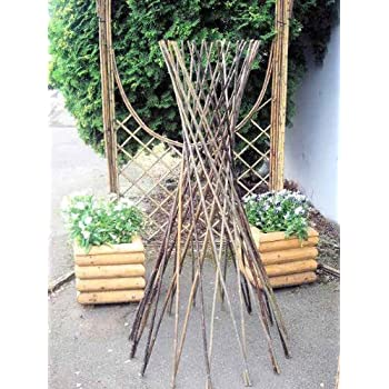 Master Garden Products Willow Funnel Trellis, 36 Inch