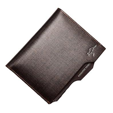 Accessoires Hommes Portefeuilles en cuir Extra Capacity Slimfold Vertical Wallet Golden Blancho Bedding