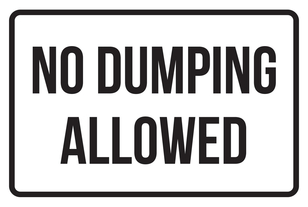 iCandy Products Inc No Dumping Allowed No Parking Business Safety Traffic Signs Black - 12x18 - Metal
