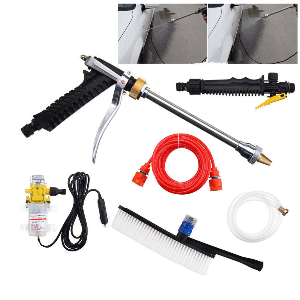 Eapmic 12V 100W 160PSI Portable High Pressure Washer Cleaner Water gun Car Multifunctional Foam Blaster Washer Pump Sprayer Tools Kits with Pressure Washer hose for Home,Garden,Vehicles 5 Pcs (5pcs)