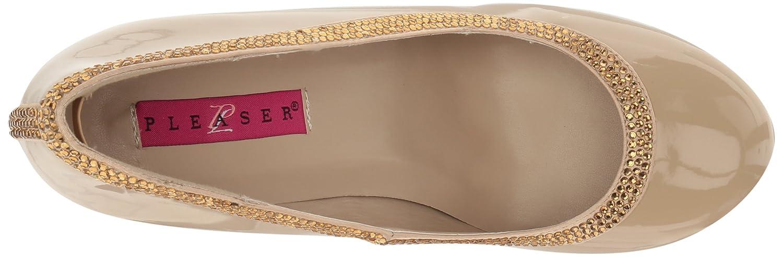 Pleaser Women's Queen04/Crpt-Sa Slide US Cream Pump B06XH38ZP7 10 B(M) US Cream Slide Patent-cream Satin 38d26d