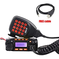 KT-8900 25W/20W Mini Mobile Transceiver Dual Band VHF UHF 136-174/400-480MHz Amateur Car Radio (HAM), with USB Programming Cable