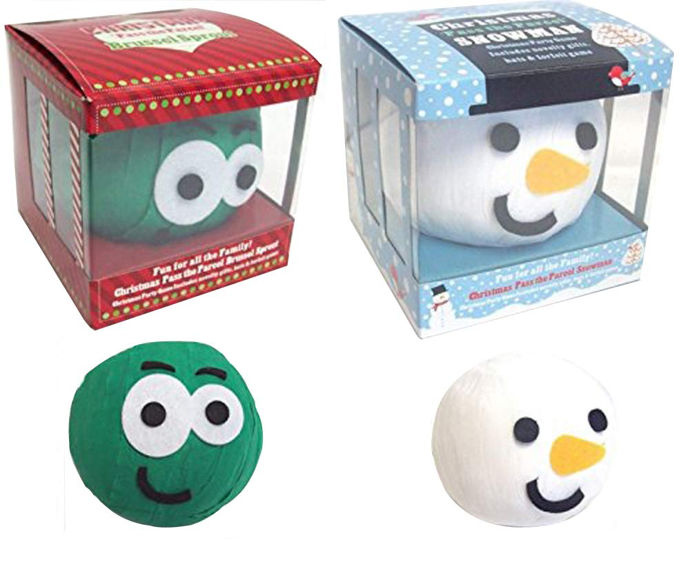 KIDS Party Pass The Parcel SPROUT SNOWMAN Gift Christmas Cracker 24 PRIZES